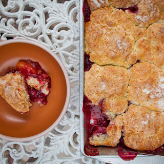 Sweet Cherry, Black Plum and Yellow Peach Cobbler.