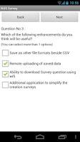 Screenshot of NUS Survey