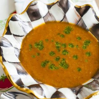 Roasted Tomato Soup with Fresh Basil Pesto