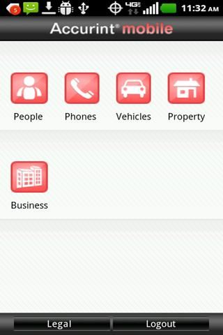 LexisNexis® Accurint® Mobile- screenshot