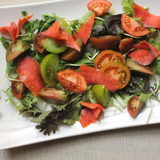 Fresh Tomato and Smoked Salmon Salad.