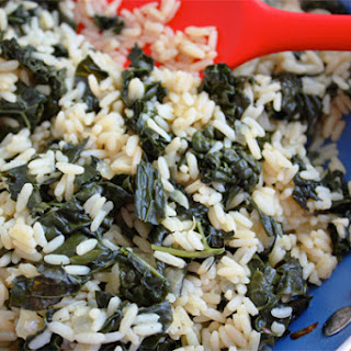Rice with Kale.