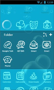 Bubbles Go Launcher Theme - screenshot thumbnail