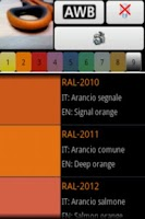 Screenshot of Color detector for RAL