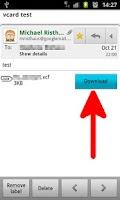 Screenshot of Import vCard Attachment