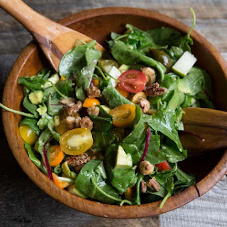 Chopped Salad Recipe with Tomato, Avocado, Pears, and Kumquats