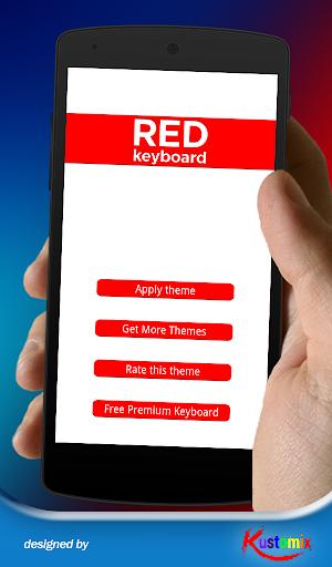 Flat Red Keyboard