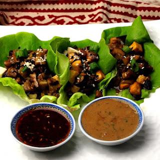 Tofu and Mushroom Lettuce Wraps.