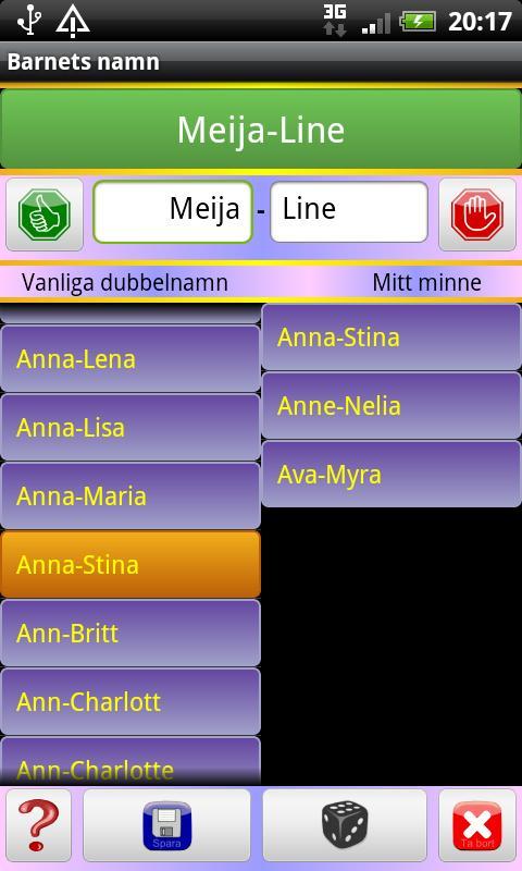 Barnnamn- screenshot