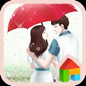 lovely girl love rain dodol