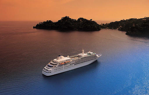Silver Wind plies the Caribbean. Guests on board will witness some of the most memorable sunsets of their lives.