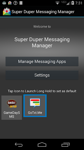Super Duper Messaging Manager