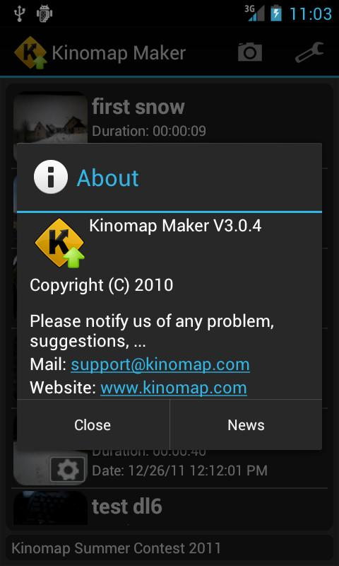 Kinomap Maker - screenshot