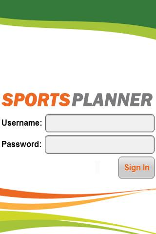 Sportsplanner - screenshot