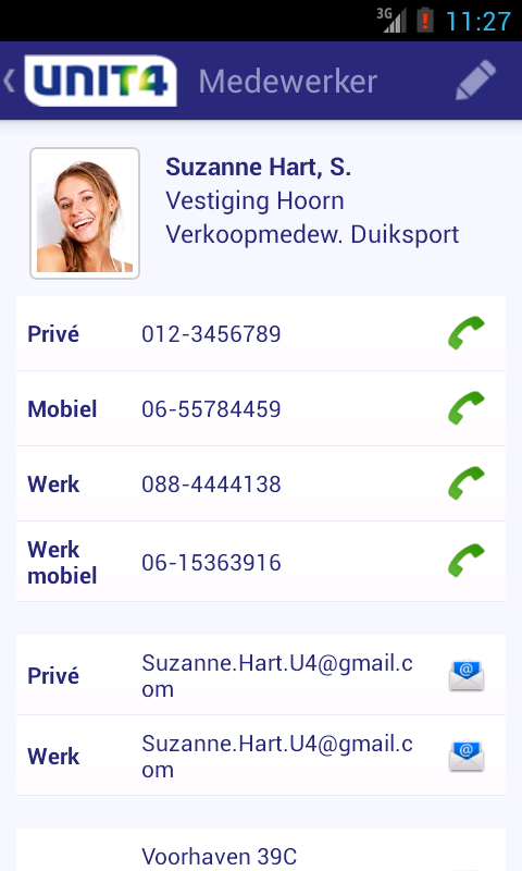 MobileHR- screenshot