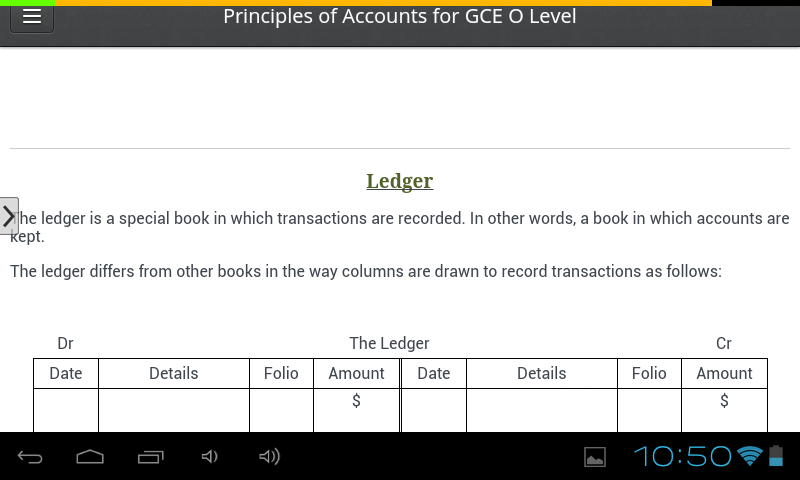 O Level Principles of Accounts- screenshot