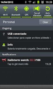 Hailstorm watch- screenshot thumbnail