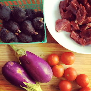 Lamb, Eggplant, and Fig Skillet