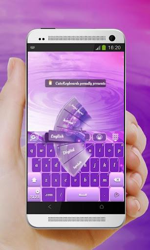 粉紅色和紫色 GO Keyboard