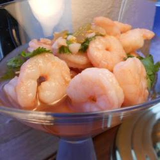 Sweet and Spicy Marinated Shrimp.