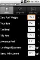 Screenshot of Phugoid FuelCalc
