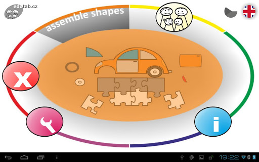 Assemble shapes game for kids