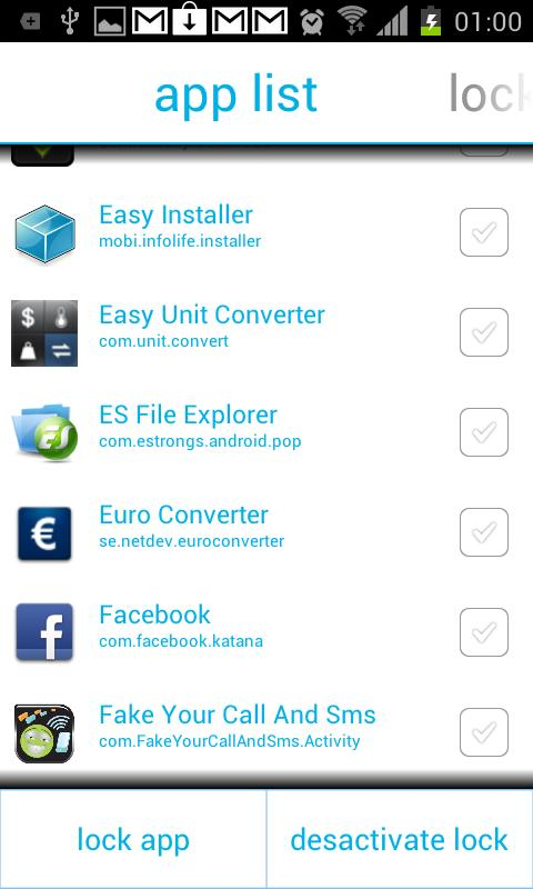 Lock App Lite - screenshot