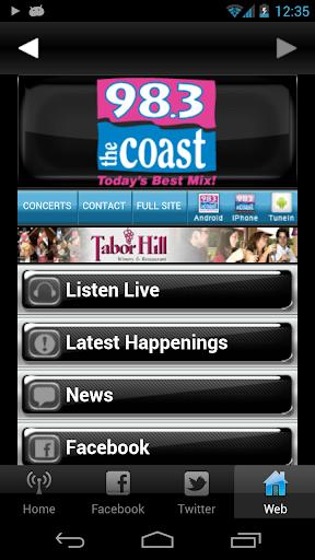 【免費音樂App】98.3 The Coast-APP點子