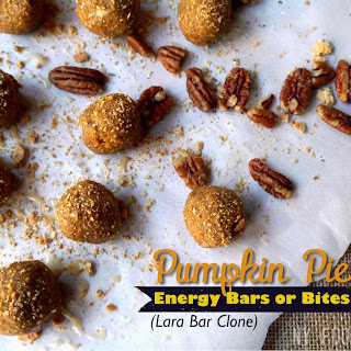 Pumpkin Pie Energy Bars & Bites (Lara Bar Clone)