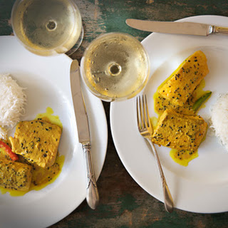 Salmon in a Bengali Mustard Sauce