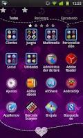 Screenshot of GO Launcher EX Purple Theme