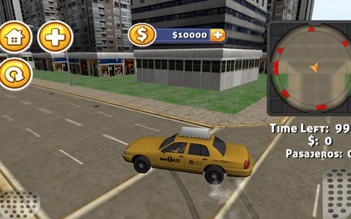 3D職務出租車司機的遊戲