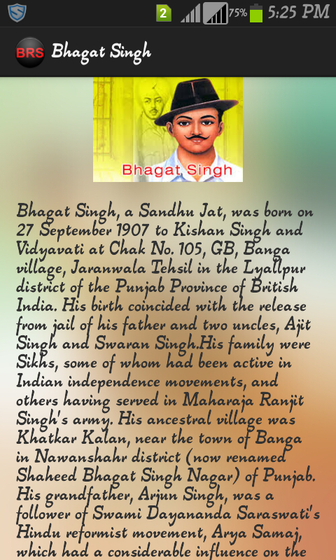 Bhagat singh essay english