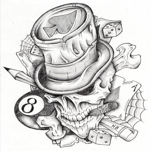 Tattoo Designs Skulls V2