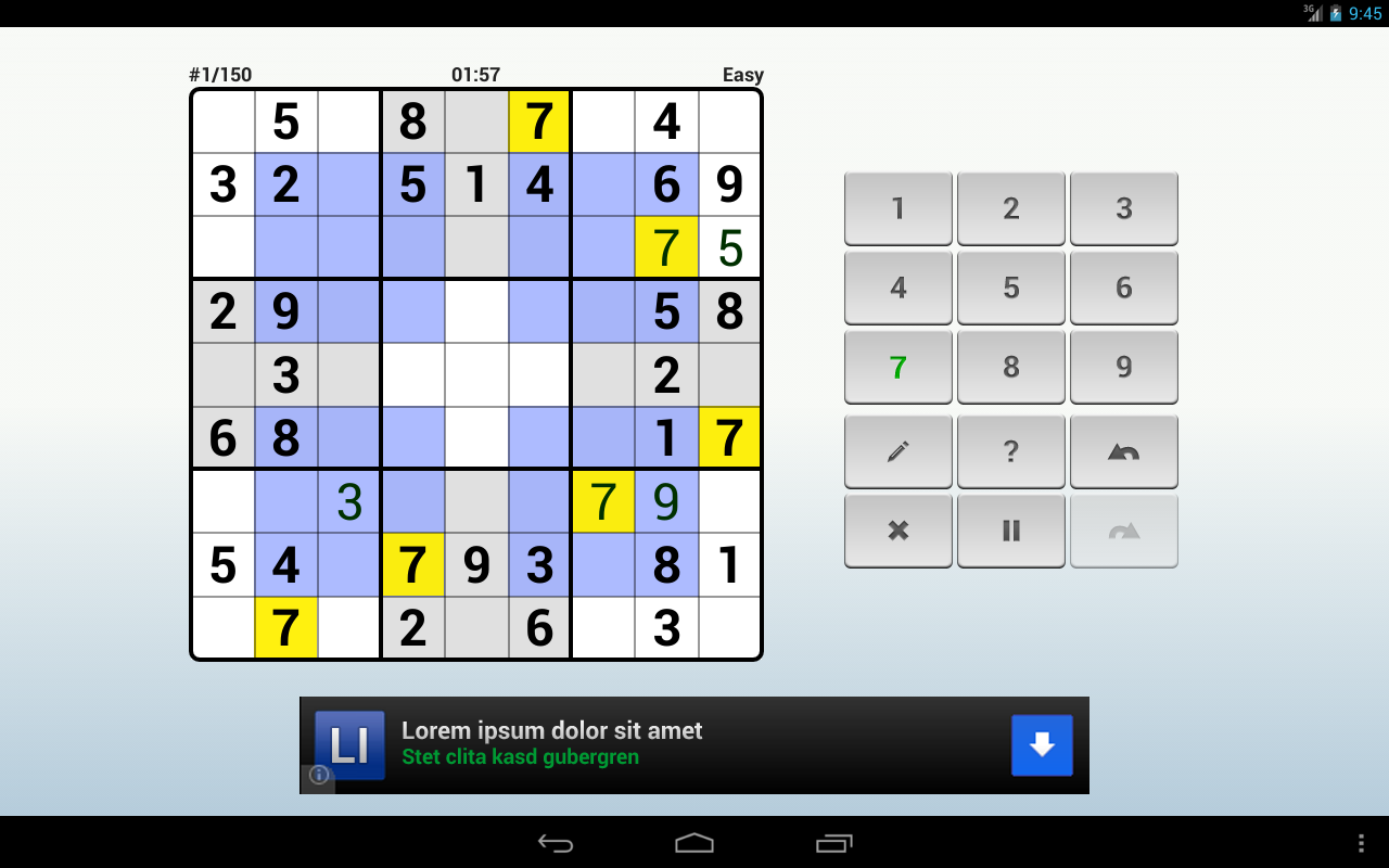Andoku Sudoku 2 Free - screenshot