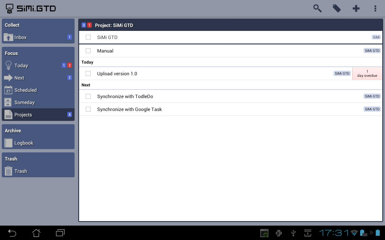 SiMi GTD - screenshot