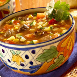 Ancho Chili Beef & Vegetable Soup.