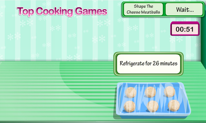 Cooking Cheesy Meatballs - screenshot