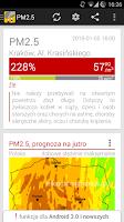 Screenshot of Zanieczyszczenie Powietrza