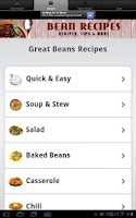 Screenshot of Bean Recipes!