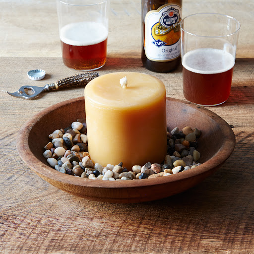 Round Beeswax Outdoor Pillar Candle