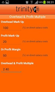 Resource Rate Calculator - screenshot thumbnail