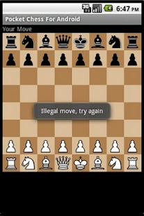Pocket chess for android - screenshot thumbnail