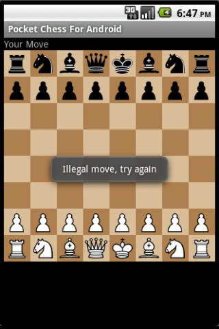 Pocket chess for android- screenshot