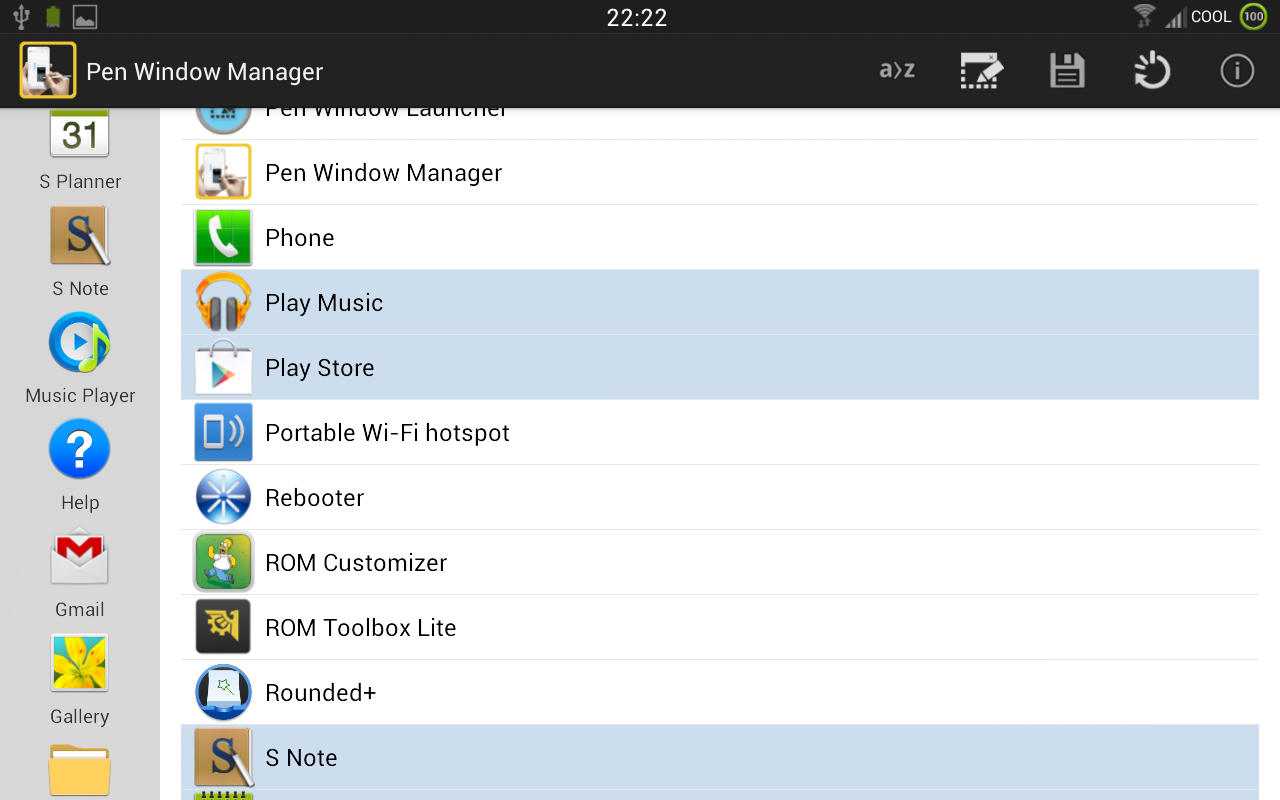 PEN Window Manager - screenshot