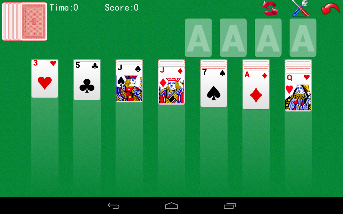 single deck solitaire for two
