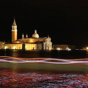 Night Venice - La Serenissima by La Prairie - City,  Street & Park  Night