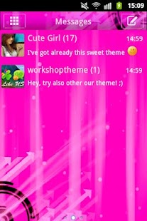 Pink Theme GO SMS - screenshot thumbnail