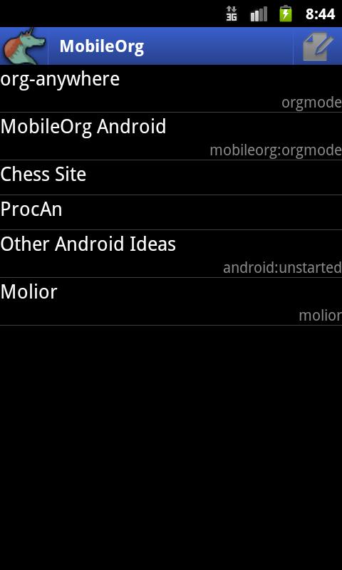 MobileOrg - screenshot