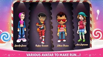 Screenshot of CANDY RUN 3D